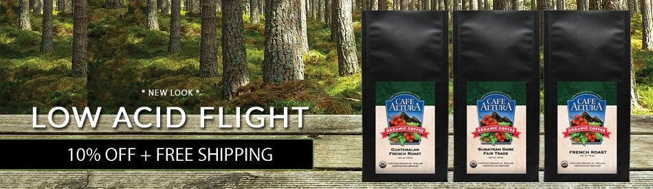Low Acid Coffee Sampler 10% Off + Free Shipping