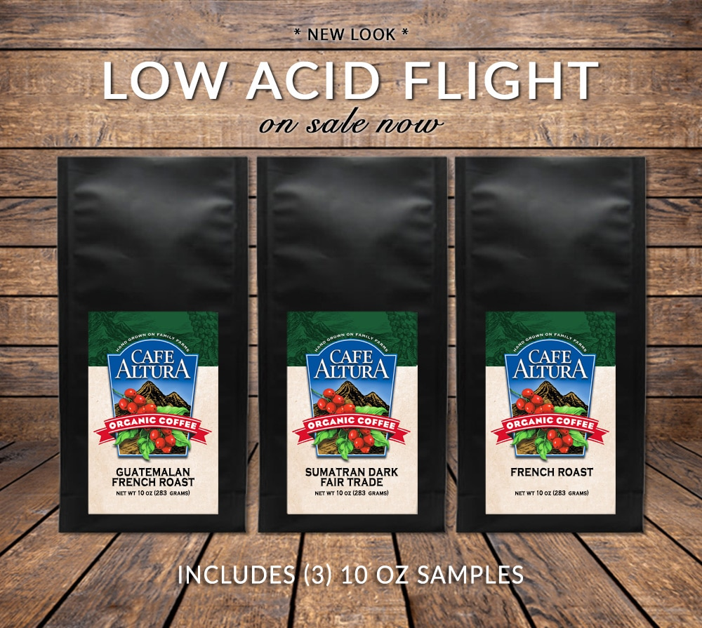 Low Acid Coffee Sampler on Sale