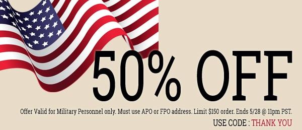 Memorial Day - 50% Off
