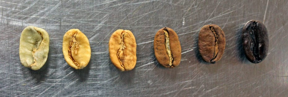 Coffee roasting phases