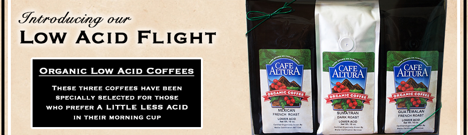 Organic Low Acid Coffee Sampler