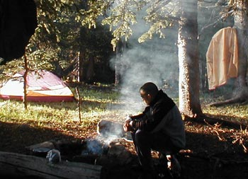 coffee camping cowboy